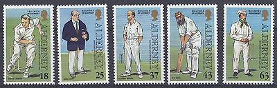 Alderney 1997 MNH Set Cricket SGA96/100