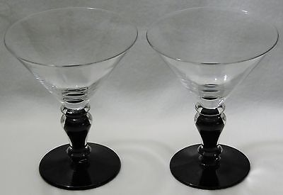 *rare* Morgantown Filament Midnight Black Champagnes (2)