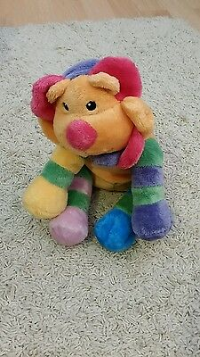 Baby toy soft cuddly lion multicoloured
