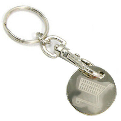 Reusable Token on Keyring for Shopping Trolley / Lockers; replaces £1 Pound Coin