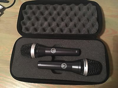 AKG D5 & C5 pair of microphones with case