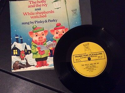 """pinky and perky - The Holly and the Ivy 7"""" vinyl single"""