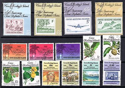 Cocos Islands used sets & singles 1988-89 incl Flora, Airplanes