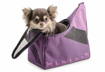 """Ancol Damson Colour Small Bite Dog Puppy Cat Carry Bag 12"""" x 6"""" Tote Bag"""