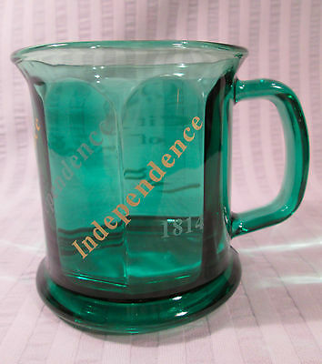 City Of INDEPENDENCE, OH Green Glass MUG Souvenir Cup