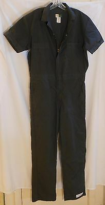 Wearguard Mechanic Coveralls Jumpsuit L Navy Blue Short Sleeve GUC