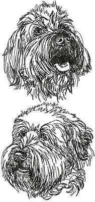 Wheaten Terrier Dog Breed Graphic Bathroom  HAND TOWEL SET EMBROIDERED