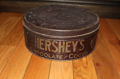 "Vintage Hershey's Cocoa Tin Large 12"" x 5"": Hershey Chocolate Cocoa"