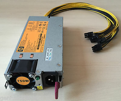 PSU for Antminer S5 750W Gold 92% Server Power Supply with 4x PCI-E not CX750