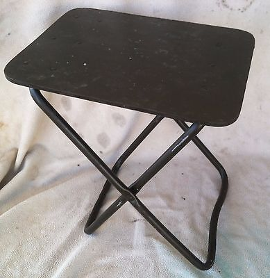 Awe Inspiring Vintage 1982 Us Military Field Desk Chair Folding Stool Army Inzonedesignstudio Interior Chair Design Inzonedesignstudiocom