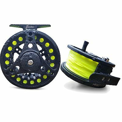 Flextec FreeFlo Fly Fishing Reel with Matching Floating WF Fly Line  AFTM 6/8