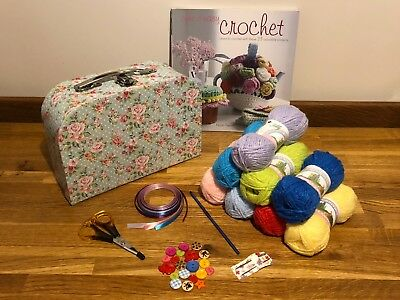 Beginner Starter Crochet Kit With Cute & Easy Book 10 Box Style Mothers Day Gift
