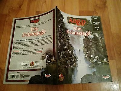 Ad&d1 Die Schatzjagd  Advanced Dungeons & Dragons Ad&d Fast Neuwertig +Farbkarte