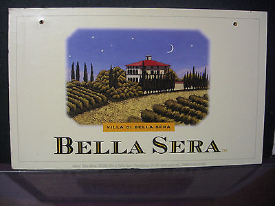 Bella Sera Italian Table Wine Crate Display Label Healdsburg California
