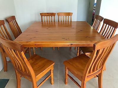 8 seater square dining table With Chairs