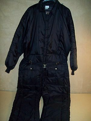 Vintage~Mens~Walls Blizzard Pruf~Coveralls~Insulated~L Reg~Chest 42-44~Black