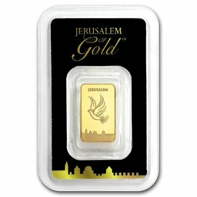 The Holy Land Mint Israel 2.5 Gram Pure 999.9 Gold Bar Certificate Bullion Bars