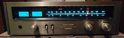 Beautiful Vintage ONKYO Solid State AM FM Stereo Tuner T-4055 Woodgrain