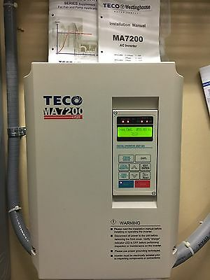 USED TECO-WESTINGHOUSE MA7200-4020-N1 VARIABLE FREQUENCY DRIVE 20hp VFD