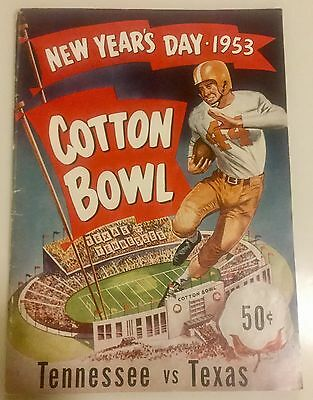 1953 Cotton Bowl Classic Program Tennessee Volunteers Texas Longhorns Dallas