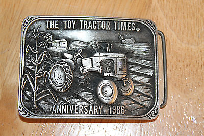 Massey Harris Pony belt buckle Toy Tractor Times 1986 Pewter limited edition