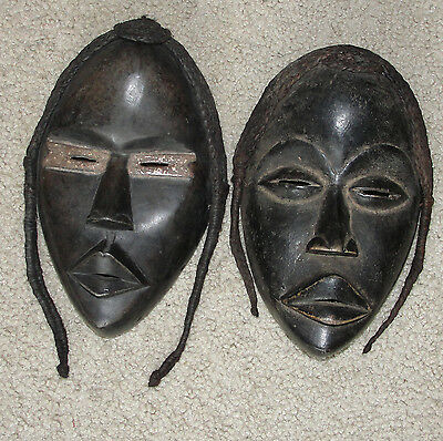 Nice African Tribal Dan Mask Face Braid Deangle Africa Fine Old Antique Masque