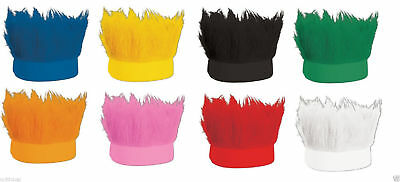 Spiked Troll Wig Team Spirit Hairy Headband with Hair Colored Sweatband Costume