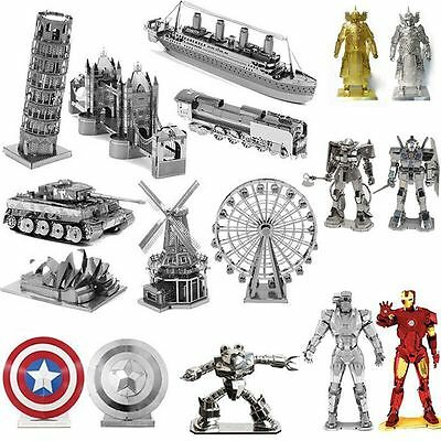 3D Metal Star Wars Laser Cut Miniature Model Kits Puzzle Jigsaw Assembly DIY Toy