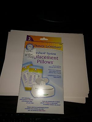 Prince Lionheart EverFRESH system Replacement Pillows 2 pk 0239 Ever-Fresh NEW