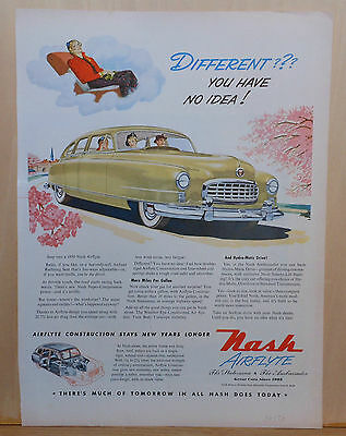 1950 magazine ad for Nash autos - 1950 Airflyte, Different You Have No Idea