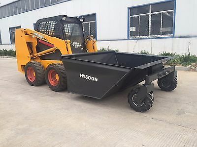 Mobile hopper and dumper suits skid steer loaders