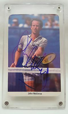 John McEnroe 1987 Fax-Pax Tennis Card Autographed MINT Very Rare Collectable