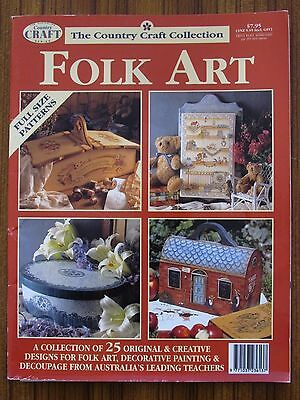 Folk Art - Country Craft Collection Pattern Sheet Uncut 25 Designs