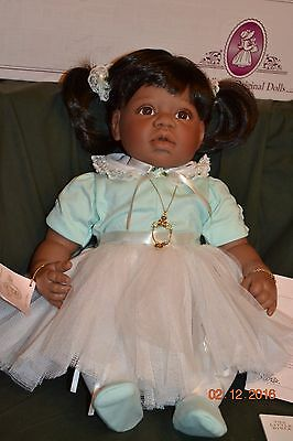 """Lee Middleton """"Little Ballerina - Green"""" in original box with COA and Bible"""