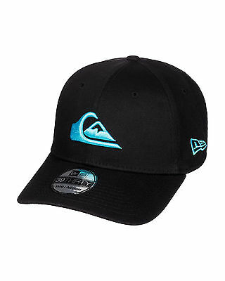 NEW QUIKSILVER™  Mens Mountain And Wave Black Stretch Fit Cap Hat Headwear