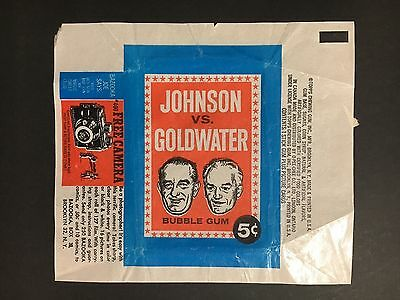 "TRADING CARD WRAPPER ""JOHNSON VS GOLDWATER"" FROM 1960's POLITICAL CARDS WRAPPER"