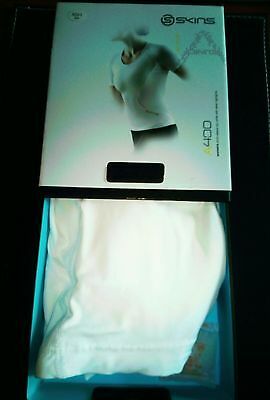 Women's A400 SKINS Short Sleeve Top White  Size XSH Brand New In Box