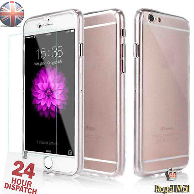 Hybrid 360° Ultra Thin Clear Case+Tempered Glass For iPhone 5/5s {bW6