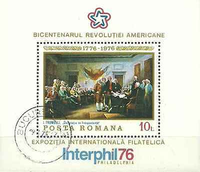 Timbre Arts Tableaux Roumanie BF124 o lot 5158