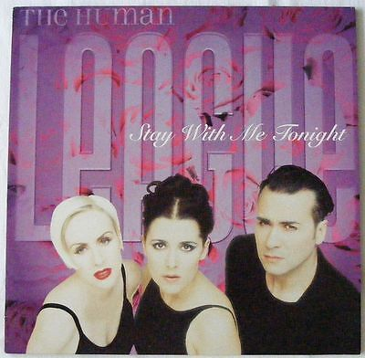 """HUMAN LEAGUE UK 1996 12"""" Single STAY WITH ME TONIGHT Disc=MINT"""