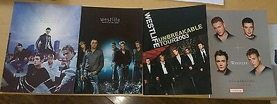 Collection of 4 westlife concert programs from 2001-2004