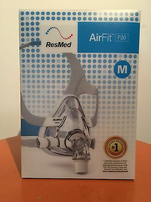Resmed Airfit F20 Full Face CPAP mask (medium) With Standard Headgear