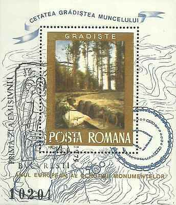 Timbre Arts Tableaux Flore Roumanie BF119 o lot 5159
