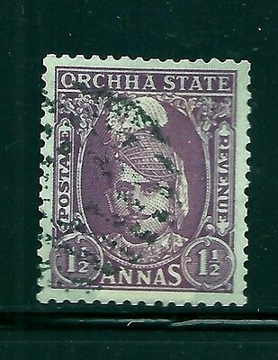 1939-42 Orchha,sg36 Cat £180 Used, 1/2 Anna, Kgvi, India Indian Feudatory States