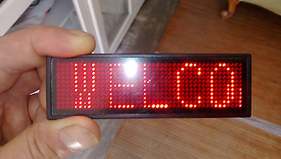 Red LED Programmable Message Sign Moving Scrolling Display Board Panel Led Sign