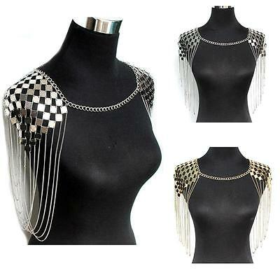 Fashion Bohemian Harness Necklace Pendant Collar Shoulder Body Chain Jewelry OC