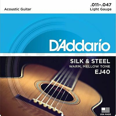 D'addario EJ40 11-47 Silk and Steel Guitar Strings