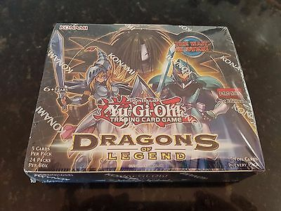 YUGIOH DRAGONS OF LEGEND 1ST Edition Sealed Booster Box 24 packs