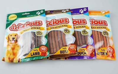 Dog Food Pet Treats Meat 4 Pack Duck Lamb Beef Chicken Real Meat