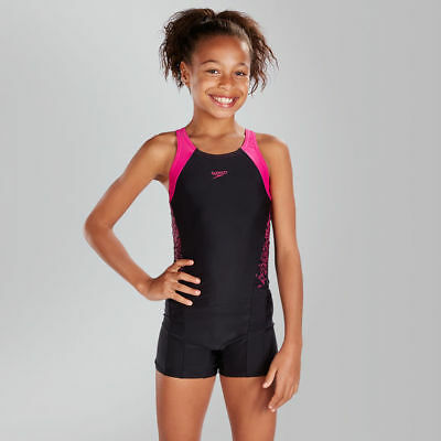 119733 SPEEDO Girls Boom Splice Legsuit Swimming Costume - NEW for 2017